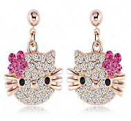 Stud Earrings Crystal Alloy Fashion Jewelry Daily 1pc