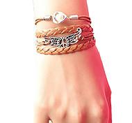 женский мир крыло жемчуг плетеный браслет вдохновляющие браслеты ювелирные изделия