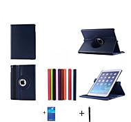 Caso del cuero del soporte serie rotativa 2015 nuevo de alta calidad para el ipad caso AIR2 6 ipad + screen + stylus