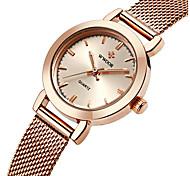 WWOOR Женские Модные часы Кварцевый Защита от влаги Нержавеющая сталь Группа С подвесками Люкс ПовседневнаяСеребристый металл Золотистый
