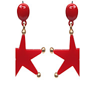 Stud Earrings Alloy Statement Jewelry Fashion Star White Black Red Jewelry Wedding Halloween Casual 1 pair