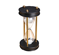Toys For Boys Discovery Toys Hourglasses Cylindrical Glass Wood Brown Black White