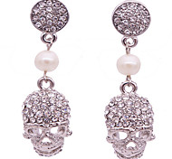 Drop Earrings Diamond Pearl Rhinestone Alloy Statement Jewelry Punk Skull / Skeleton Jewelry Daily 1pc