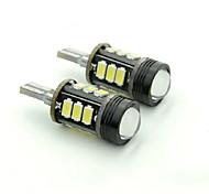 Тесо T15 5W DC 11, 13 В 12шт 5630/5730 SMD LED подсветка 6000-6500k изгоев резервного лампа объектив привели тормозные огни