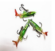 1 pcs Hard Bait Fishing Lures Hard Bait Random Colors Metal Hard Plastic Sea Fishing
