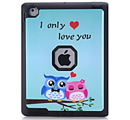 Owl Pattern Colour Printing Water/Dirt/Shock Proof Waterproof Three in One IMD Cover Case for iPad2 iPad3 iPad4