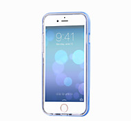 Para Funda iPhone 5 Linterna LED / Transparente Funda Cubierta Trasera Funda Un Color Suave TPU iPhone SE/5s/5