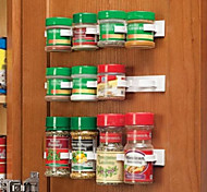 Clip N Store Kitchen Bottle Spice Organizer Rack Cabinet Door Spice Clips 20-Clip Set