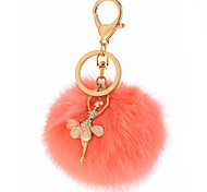 Key Chain Sphere Key Chain Orange Metal / Plush