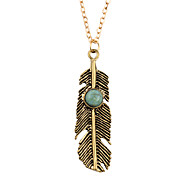Necklace AAA Cubic Zirconia Pendant Necklaces Jewelry Daily Leaf Nature Alloy Women 1pc Gift Gold