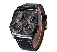Men's Large Dial Double Movement Compass Thermometer Sport Watch