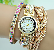 Women's Fashion Watch Bracelet Watch Quartz Leather Band Charm