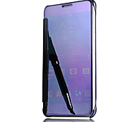 Для С функцией автовывода из режима сна Покрытие Зеркальная поверхность Флип Кейс для Чехол Кейс для Один цвет Твердый PC для Samsung