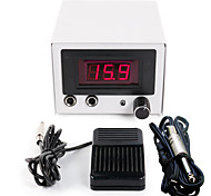Solong Tattoo Double Output Digital Tattoo Power Supply  Foot Pedal  Clip Cord Kit P107