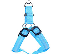 Dog Harness Electronic/Electric Solid Blue Nylon