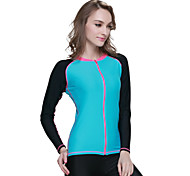 Women's 1mm Wetsuit Skin Wetsuit Jacket Dive Skins Waterproof Ultraviolet Resistant Comfortable Sunscreen Elastane Chinlon LYCRA®Diving