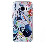 For Samsung Galaxy S8 Plus S7 Glow in the Dark Case Back Zebra Pattern Soft TPU Cover Case S8