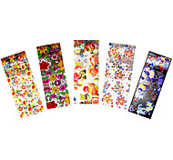 5pcs Nail Art Transfer Sticker Manicures Tips Tool Flower Starry Sky Foil Nail Care Colored Decal
