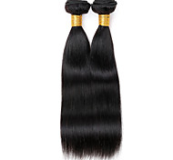 Vinsteen 2 Pieces 200g Straight Natural Color 7A 100% Unprocessed Dyeable Real Human Hair Extensions Indian Hair weaves Bundles Can Be Restyled
