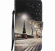 For Google Pixel XL Pixel Case Cover City Scenery Painted Lanyard PU Phone Case