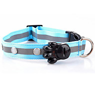 Dog Collar LED Lights Rechargeable Solid Red White Green Blue Pink Yellow Orange Nylon