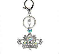 Creative diamond crown Keychain hanging bag diamond auto parts Keychain