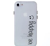 Назначение iPhone 8 iPhone 8 Plus Чехлы панели Сияние в темноте Задняя крышка Кейс для Слова / выражения Мягкий Термопластик для Apple