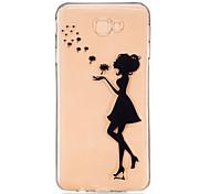 For Samsung Galaxy J7 Prime J5 Prime J710 J510 J5  J310 J3  TPU Material Girl  Pattern Painting Phone Case