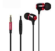 HUAST HST-41 Stereo HeadPhone In Ear Earphone Metal Handsfree Headset with Mic 3.5mm Earbuds For All Phone MP3 Player