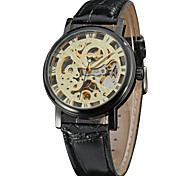 Men's Women's Unisex Sport Watch Dress Watch Fashion Watch Wrist watch Mechanical Watch Mechanical manual-winding Calendar Genuine Leather