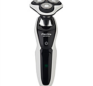 Individual Rechargeable and  Waterproof Shaver with 4 Rotating Blades