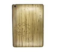 Für Geprägt Hülle Rückseitenabdeckung Hülle Löwenzahn Hart Holz für Apple iPad Air