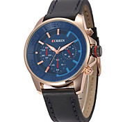 CURREN8187 BusinessCasual Men's Length Of The Needle Imports Movement Alloy Round Leather Watch
