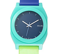 Men's Women's Unisex Sport Watch Fashion Watch Wrist watch Quartz Silicone Band Charm Casual Multi-Colored