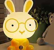 Pretty Cute Rabbit  Cartoon Animal LED Night Light Baby Room Sleeping Light Bedroom Desk Lamp Night Lamp Best for Gifts