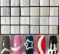 24 Autocollant d'art de clou Guide Conseils français Maquillage cosmétique Nail Art Design