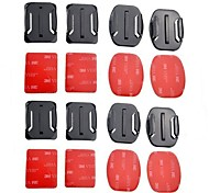 TELESIN Gopro Accessories 16pcs Mixed Helmet Flat Curved Adhesive Pads Mount for GoPro Hero 5 4 3 Xiaomi Yi Action Camera