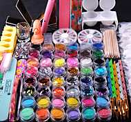 Nail Decorations Fine Metal Glitter Nail Strip 2000pc/bag Mixed Rhinestone for Nail Tips Tooks Kit Cuticle Pusher Nail