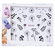 1 pcs Hand Painted Dandelion  Nail Stickers