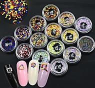 1Set 1.0-1.2mm Mixed Glitter Caviar Beads Pearl 3d Nail Art Decorations Charm Polish Nails Art Accessories YZ01-15