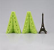 Две силиконовые формы сборки, чтобы сделать один 3d Эйфелева башня фондант плесени торт украшения инструменты цвет случайный