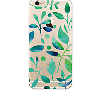 For Apple iPhone 7 7Plus 6S 6Plus Case Leaf Pattern HD TPU Phone Shell Material Phone Case