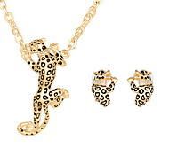 Сплав В форме животных Матовый черный Золотой Серебряный 1 пара сережек Ожерелья Для Свадьба Для вечеринок Повседневные 1 комплект