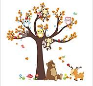 Животные ботанический Мода Наклейки Простые наклейки Декоративные наклейки на стены,Винил материалВлажная чистка Съемная Положение