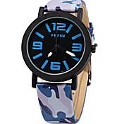Unissex Relógio de Moda Quartzo Digital Colorido Couro Banda Vintage Leopardo Casual Azul Verde Rosa Roxa marca