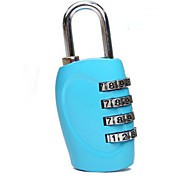 1 PC Luggage Lock Coded Lock Waterproof Portable for Luggage Accessory Zinc Alloy-Black Silver Rose Blue
