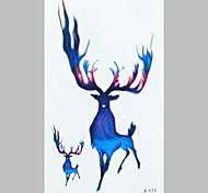 Fashion Tattoo Colours Deer Waterproof Tattoo Stickers