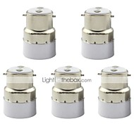 B22 to E14 Small Screw Adapter Converter Socket for Lamp Lights Bulb (5 Pieces)