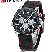 CURREN 8146 Silicone Fashion With False Eye Movement Waterproof Watch