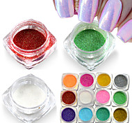 New Mermaid Effect Chrome Pigment Powder Laser Silver White Nail Art Mirror Powder Mermaid Decorations M01-12